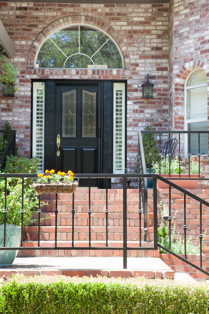 A black door can look so classic and timeless.